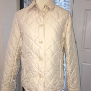 RALPH LAUREN PUFF JACKET W/ HOOD. CREAM SZ LARGE